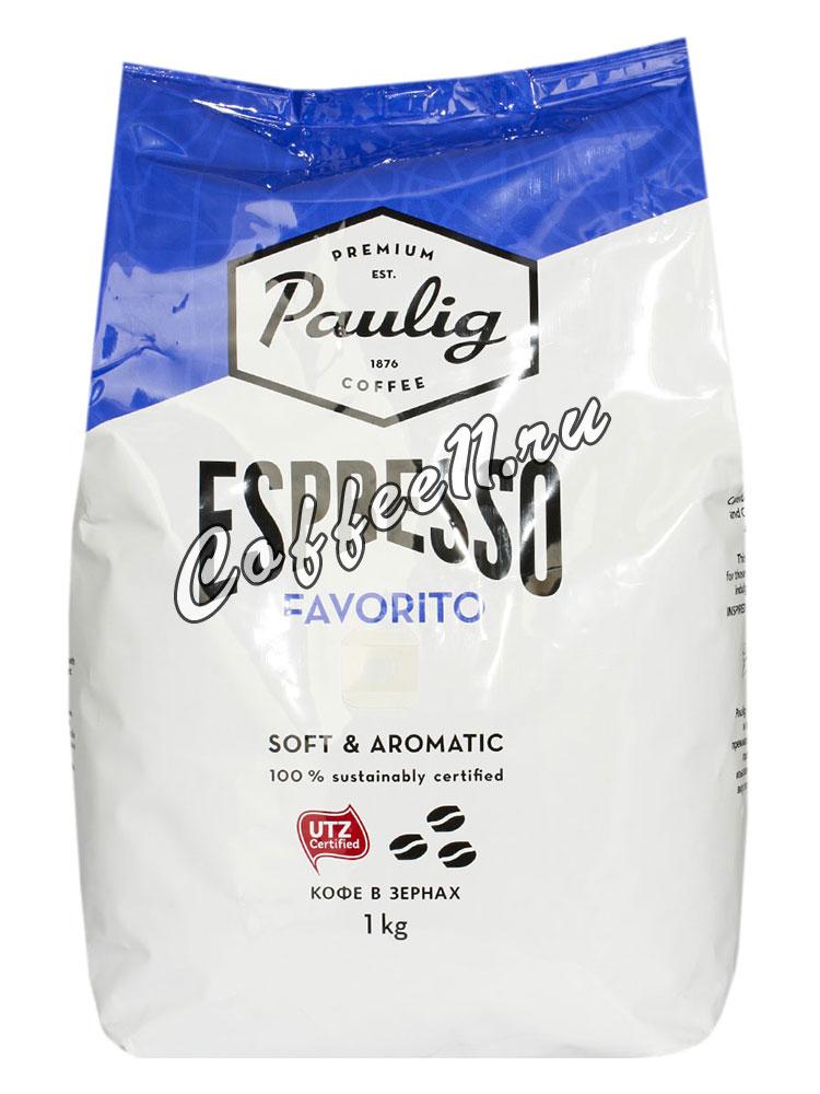 Кофе Paulig (Паулиг) Espresso Favorito в зёрнах 1кг