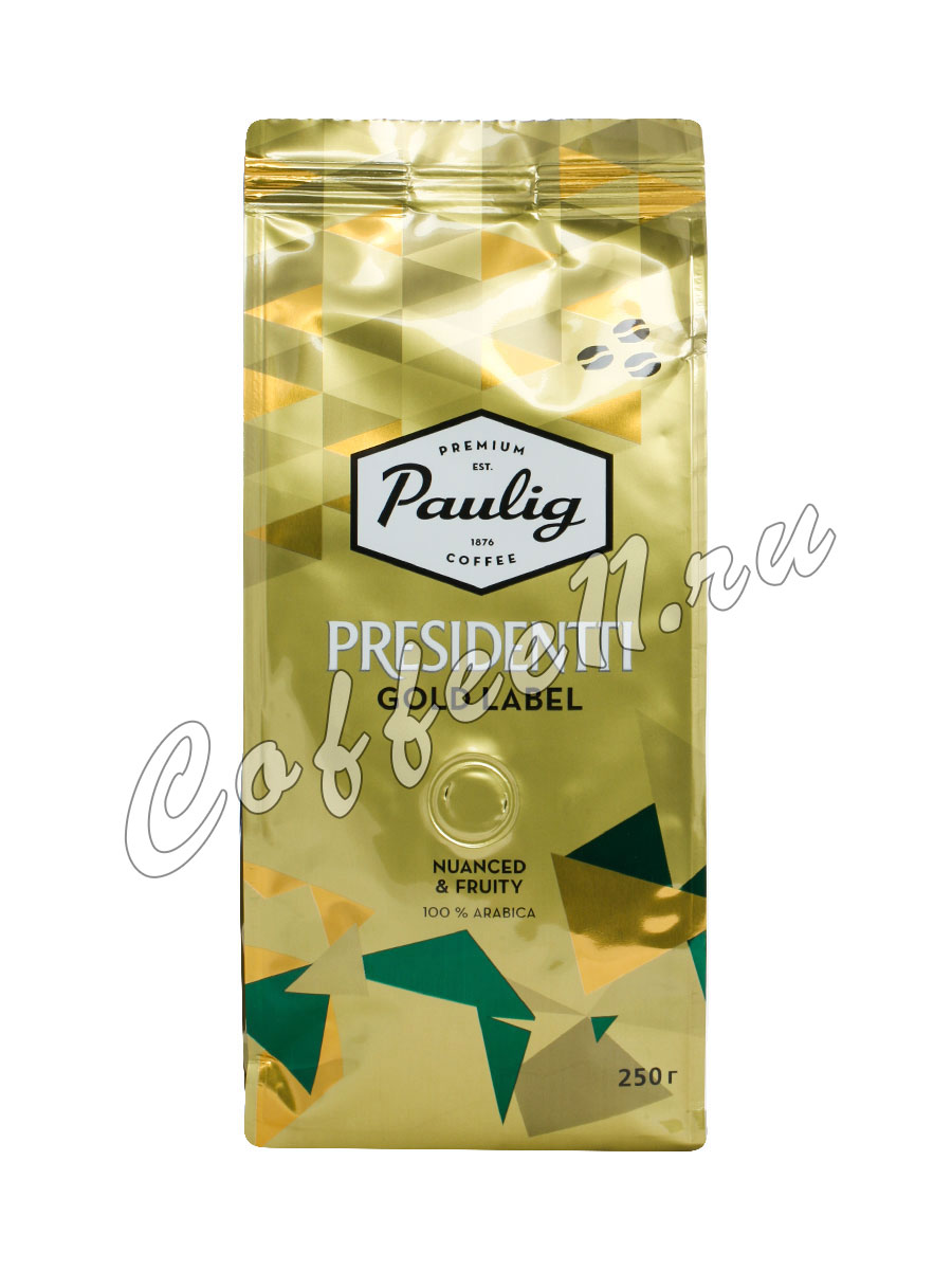 Кофе Paulig (Паулиг) Presidentti Gold Label в зёрнах 250 гр
