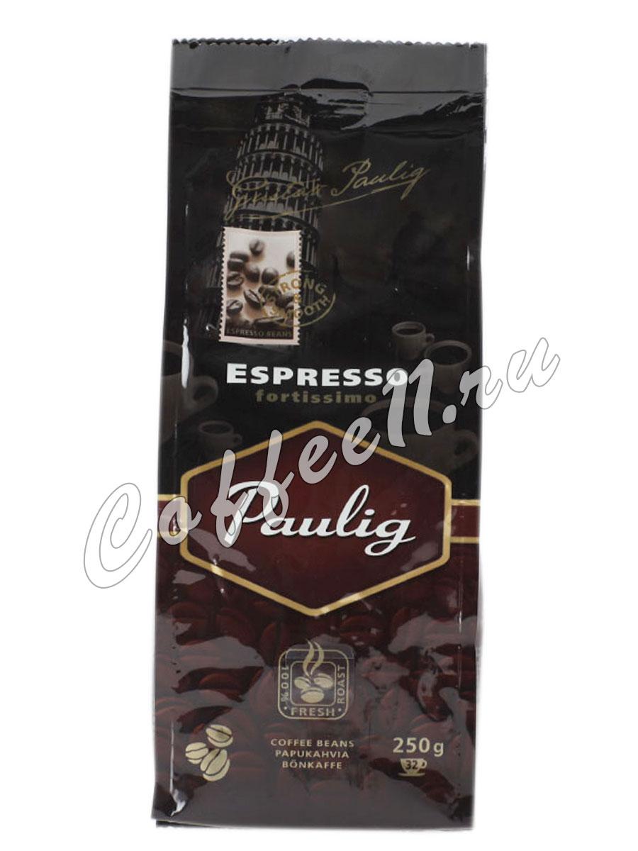 Кофе Paulig (Паулиг) Espresso Fortissimo в зернах 250 гр