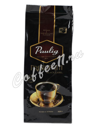 Кофе Paulig (Паулиг) Presidentti Black Label в зёрнах 250 гр